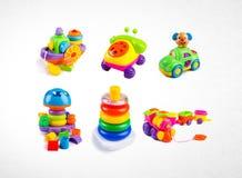 raccolta dei giocattoli o del giocattolo sui precedenti Fotografia Stock Libera da Diritti