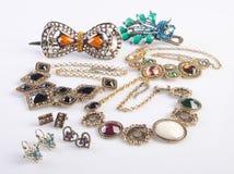 Raccolta dei gioielli raccolta dei gioielli su fondo Fotografia Stock