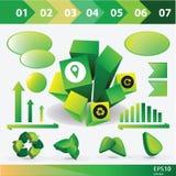 Raccolta dei grafici di informazioni di ecologia Immagini Stock