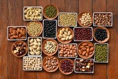 Raccolta dei legumi differenti Fotografie Stock