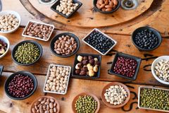 Raccolta dei legumi differenti Immagini Stock Libere da Diritti