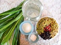 Raccolta dei legumi, vari fagioli variopinti dei legumi per cucinare Fotografia Stock