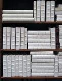 Raccolta dei libri bianchi Fotografia Stock Libera da Diritti