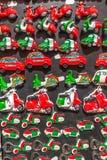 Raccolta dei magneti del ricordo dell'Italia Fotografia Stock
