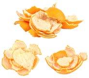 Raccolta dei mandarini freschi isolati su bianco Immagini Stock Libere da Diritti