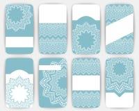 Raccolta dei modelli della carta di vettore con l'ornamento geometrico Immagini Stock Libere da Diritti