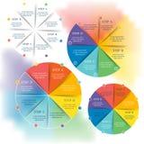 Raccolta dei modelli di Infographic per l'affare illustrazione vettoriale