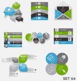 Raccolta dei modelli di Infographic per l'affare Immagine Stock Libera da Diritti