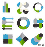 Raccolta dei modelli di Infographic per l'affare Fotografie Stock