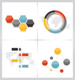 Raccolta dei modelli di Infographic per l'affare Fotografia Stock