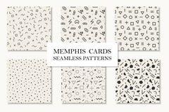Raccolta dei modelli geometrici senza cuciture di Memphis, carte Progettazione di forme del mosaico Retro stile 80 di modo - 90s Immagine Stock Libera da Diritti