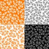 Raccolta dei modelli senza cuciture con l'arancia astratta Fotografia Stock Libera da Diritti
