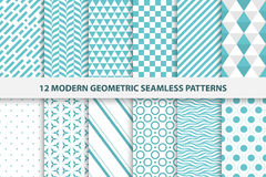 Raccolta dei modelli senza cuciture geometrici Immagini Stock Libere da Diritti