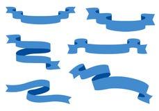 Raccolta dei nastri - con il vettore blu- eps10 Immagini Stock Libere da Diritti
