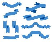 Raccolta dei nastri - con il vettore blu- eps10 Fotografia Stock