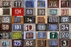 Raccolta dei numeri civici Fotografia Stock