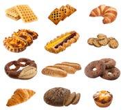 Raccolta dei panini e dei rotoli Immagini Stock Libere da Diritti