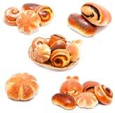 Raccolta dei panini e dei rotoli dolci delle foto Fotografia Stock