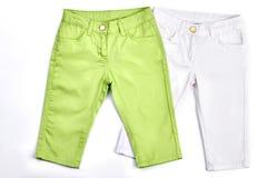 Raccolta dei pantaloni di estate dei bambini Fotografia Stock Libera da Diritti