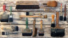 Raccolta dei pennelli Fotografia Stock Libera da Diritti