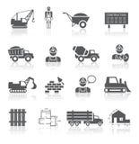 Raccolta dei pittogrammi della costruzione Fotografia Stock