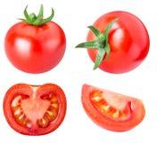 Raccolta dei pomodori rossi isolati su backgroud bianco Fotografia Stock Libera da Diritti