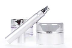 Raccolta dei prodotti della stazione termale dello skincare Fotografie Stock