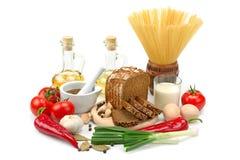 Raccolta dei prodotti naturali Immagini Stock