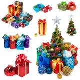 Raccolta dei regali di Natale Immagini Stock