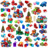 Raccolta dei regali di Natale Fotografia Stock Libera da Diritti