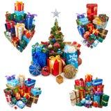 Raccolta dei regali di Natale Immagine Stock Libera da Diritti