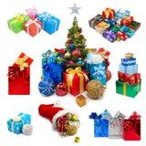 Raccolta dei regali di Natale Immagine Stock