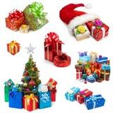 Raccolta dei regali di Natale Fotografie Stock Libere da Diritti