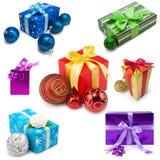 Raccolta dei regali di Natale Fotografie Stock
