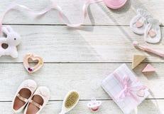 Raccolta dei regali per la doccia di bambino Fotografie Stock Libere da Diritti