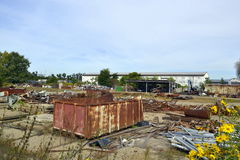 Raccolta dei rifiuti metallici Fotografia Stock Libera da Diritti
