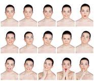Raccolta dei ritratti di bellezza Immagini Stock