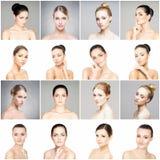 Raccolta dei ritratti femminili della stazione termale Fotografie Stock