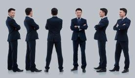 Raccolta dei ritratti integrali degli uomini d'affari Fotografia Stock Libera da Diritti