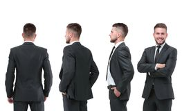 Raccolta dei ritratti integrali degli uomini d'affari Immagine Stock Libera da Diritti