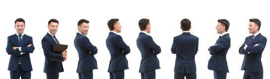 Raccolta dei ritratti integrali degli uomini d'affari Immagini Stock Libere da Diritti