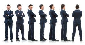 Raccolta dei ritratti integrali degli uomini d'affari Immagini Stock