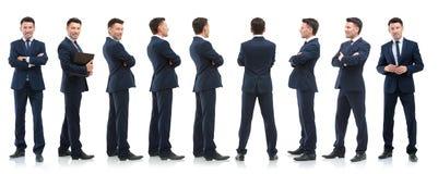 Raccolta dei ritratti integrali degli uomini d'affari Immagine Stock
