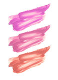 Raccolta dei rossetti macchiati isolati su bianco Immagini Stock Libere da Diritti