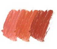 Raccolta dei rossetti macchiati isolati su bianco Immagine Stock