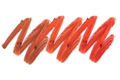 Raccolta dei rossetti macchiati isolati su bianco Fotografie Stock