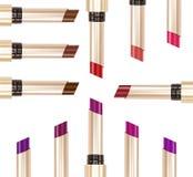 Raccolta dei rossetti nei colori differenti Fotografia Stock