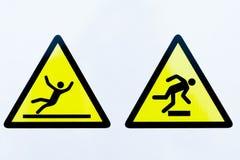 Raccolta dei segnali di pericolo Fotografie Stock