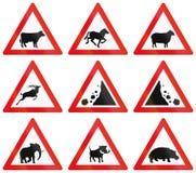 Raccolta dei segnali stradali del Botswana illustrazione di stock