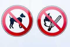 Raccolta dei segni di proibizione immagini stock libere da diritti